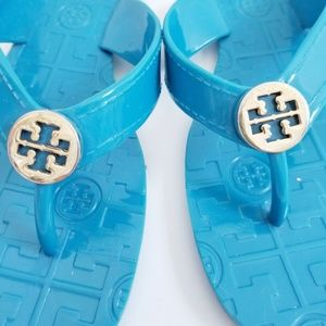 Tory Burch jelly sandals blue 6